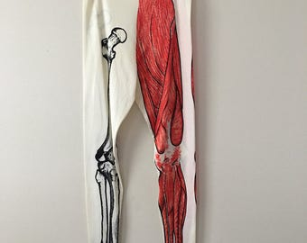 70s Bones & Muscles Printed Leggings