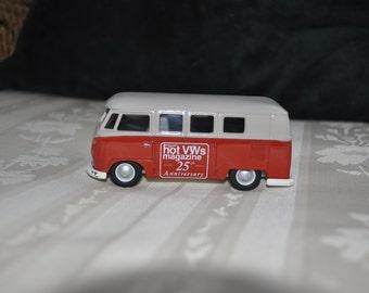 "Vintage VW Bus, Hot VWs Magazine 25th anniversary, 3 1/2"""