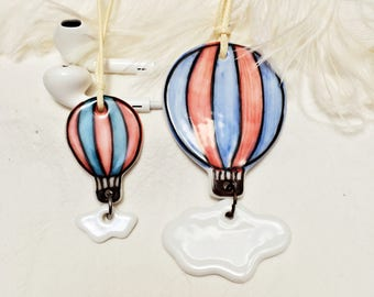 Porcelain Hot Air Balloon Necklace