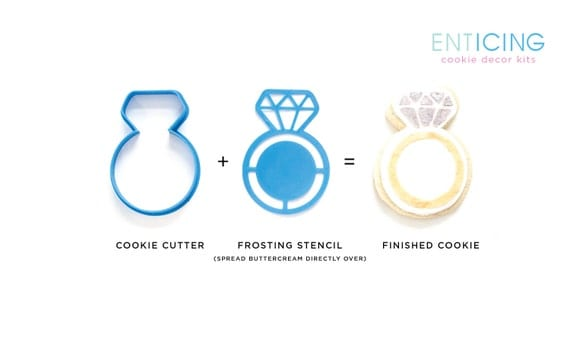 entICING Cookie Decor Kit : Wedding or Engagement Ring Cookie ...