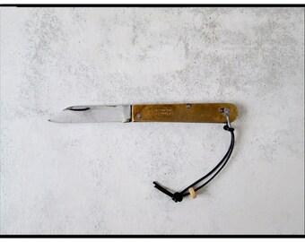 Brass Pocket Knife #95