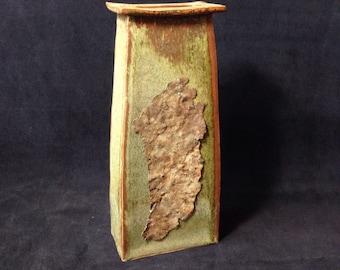 Vase with Rust Decor