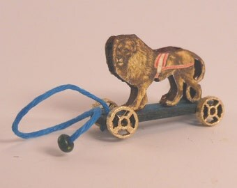 Miniature 1:12 Scale Lion Pull-Toy KIT