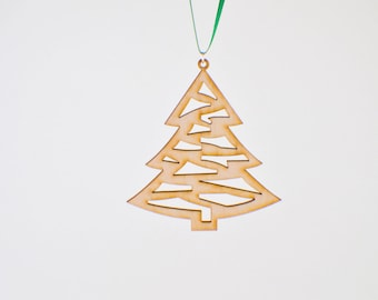 Laser Cut Wood Christmas Tree Ornament - Design #1 - 50% off