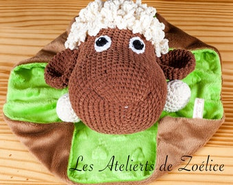 Caramel lamb blanket flat birth gift