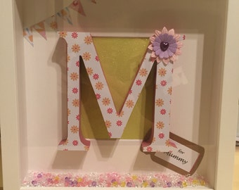 Mothers Day- M is for... with crystals (Mother,mum, mummy etc)