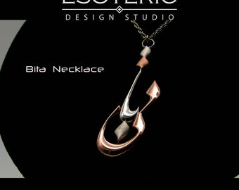 Farsi (Persian) Name Necklace, Bita Necklace, Sterling Silver & Rose Gold Plated
