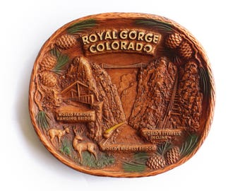 Vintage Royal Gorge Colorado Souvenir Tray