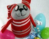 Racer Bunny, Handmade Sock Bunny Plush, Easter Bunny, Boy Bunny, Plush, Toy, Sock Animal Bunny, Sock Rabbit, Rabbit Stuffed Animal