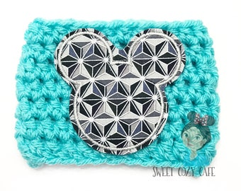 Mouse Ears Spaceship Earth Fabric Coffee Cup Cozy