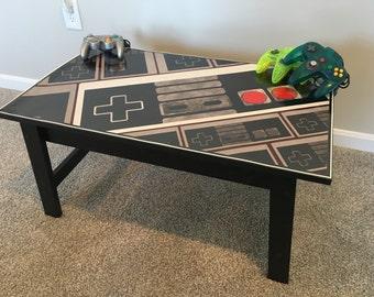 Nintendo NES Controller Custom Retro Video Game Coffee Table