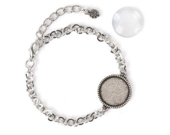 18mm Round Bracelet - Silver