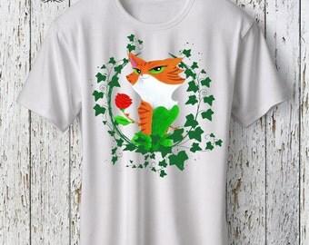 Custom Design Gotham Poison Ivy Cat Tshirt, Funny Tshirt, Geek Gift, Geek Art, Geek Tshirt, Gifts For Her, Cat Lover, Cartoon