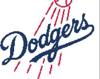 Los Angeles Dodgers logo-cross stitch pattern