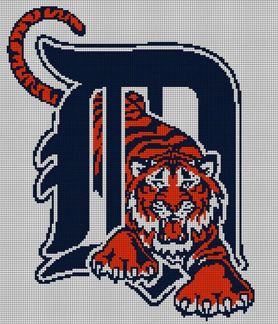 Detroit Tigers Alternate Logo Cross Stitch Pattern From
