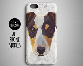 Geometric Jack Russell Terrier iPhone X Case iPhone 8 Plus Case iPhone 8 Case Phone Case iPhone 7 Case iPhone 7 Plus Case Dog Pet Gift