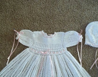 Crocheted Christening Gown