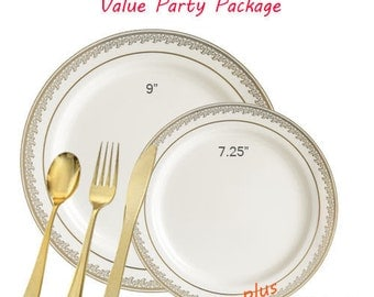 Prestige VALUE Ivory and Gold Party Package