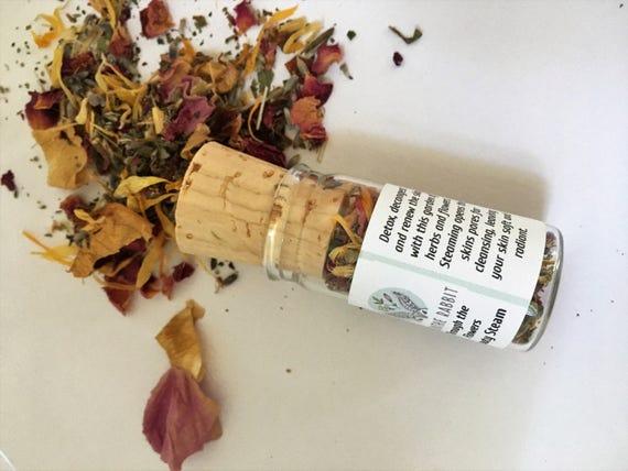 Beauty Facial Steam: Through the Flowers - Beauty Steam 4 oz. glass jar