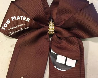 """Disney Cars """"Tow Mater"""" inspired cheer bow"""