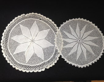 Crocheted Doilies-Flower-Set 2