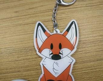 Plush Pup series 1 : Fox acrylic keychain