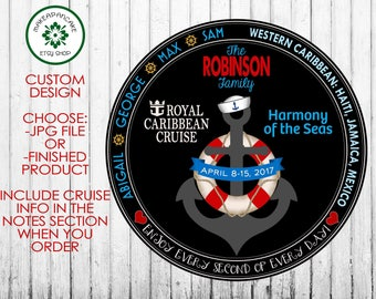 Royal Caribbean or Carnival CRUISE MAGNET ~ Personalized Cruise Stateroom Door ~ Cruise Door Design ~