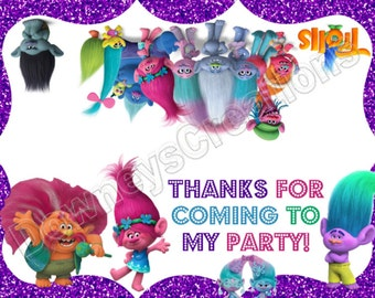 TROLLS/Treat Bag Toppers/Snack Bag/Sandwich Bag Topper/Tags/Instant Download/Printable PDF