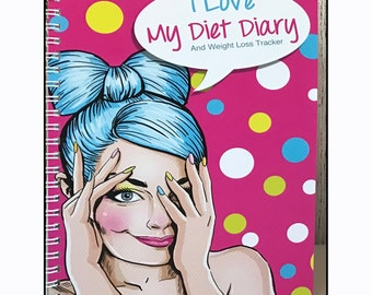 A5, Diet Diary,  Slimming World, Weight Watchers, Calorie Counting, Tracker, Journal,Notebook, Weight loss, Extra Easy,Wire Ring Bound 10