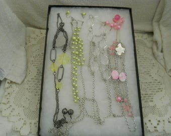 Jewelry Lot Necklaces And Earrings #163