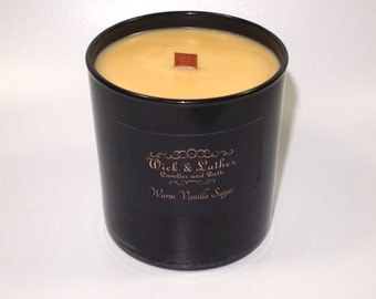 Warm Vanilla Sugar Candle, Soy Candle, Candles, Scented Candle, Scented Candles, Wood Wick Candle, Gift, Soy Wax, BBW Warm Vanilla Scent®