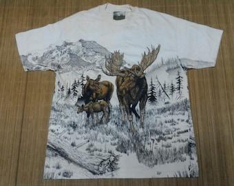 Vintage Animal Fullprint Tshirt