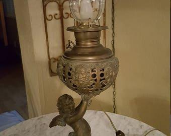 angel lamp angel oil lamp lantern vintage angel
