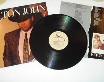 Elton John record album, Breaking Hearts vintage vinyl record