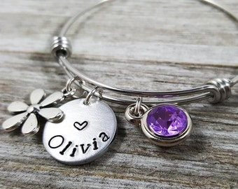 Children's Bracelet- Kids Bangle- Stainless Steel-Girl's Gift- Girl's Bracelet- Free Shipping