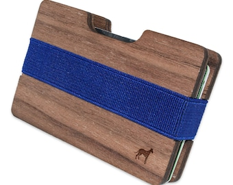Whippet Slim Minimalist Wooden Wallet. Handmade And Laser Engraved. Made in the USA.