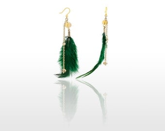 Hypoallergenic Silicone Real Feather Earrings
