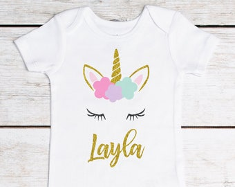Unicorn Birthday, First Birthday Outfit, 1st Birthday Outfit, Girls Birthday Outfit, Personalized Shirt, Unicorn Shirt, Unicorn Outfit