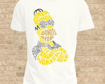 Homer Simpson Mens T Shirt, Women Flattering Fit also available, Fun Homer Tee Shirt, Ideal Homer Simpson Gift, Fandom