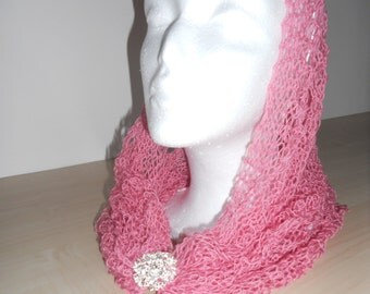 Handknitted scarf/cowl