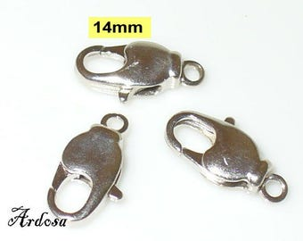3 carabiners with pivot 14 mm Silver (K110. 14)