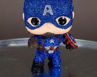 Captain America Glittered Funko Pop