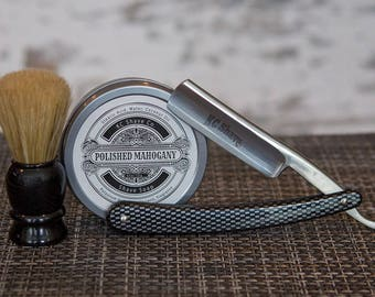 Groomsmen Gift Set of 7 Straight Razor Kit Gift Box. Shaving. Brush. Shave Soap. Groomsmen gift. Personalized Groomsmen Gift.