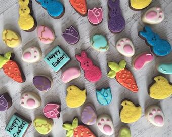 Easter assortment of mini sugar cookies