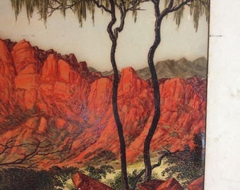REDUCED!  Vintage Oil Painting By Famous Australian Artist, Leslie Fisher, 1911-1974, Signed