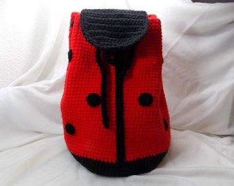 ladybug backpack, ladybug bag, bag for children
