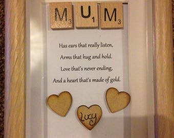personalised photoframe quote for mum or nan can hold up to 6 kids/grandkids names