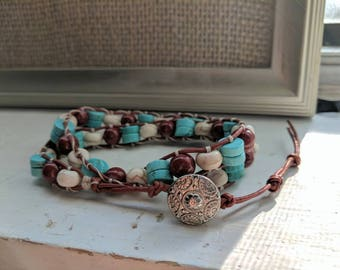 Southwest inspired wrap bracelet