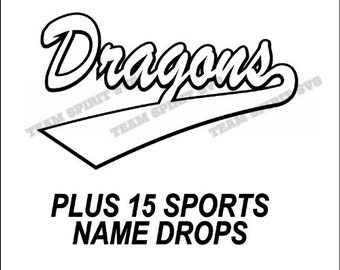 Dragons Swoosh Download Files - SVG, DXF, EPS, Silhouette Studio, Vinyl Cutting Files, Digital Cut Files - Use with Cricut and Silhouette