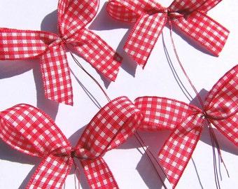 Sanding set 4 PCs Dekoschleifen Kranzdeko floral Garland red white loop tapes